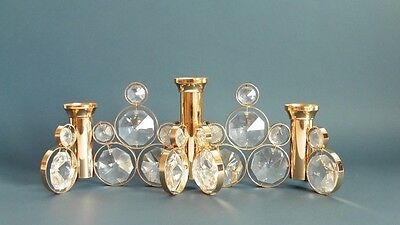 Exceptional Gold Plated Crystal Stone Candle Holder Lobmeyr Austria 1970