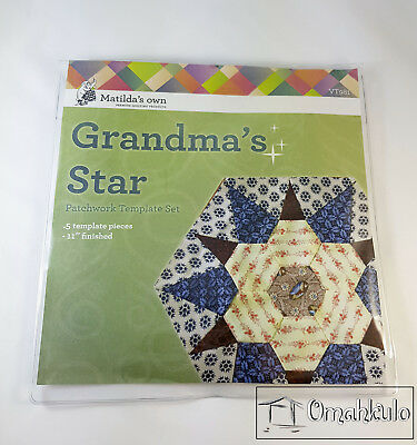 MATILDAS OWN - Grandmas Star Patchwork Template Set - 5 Pieces