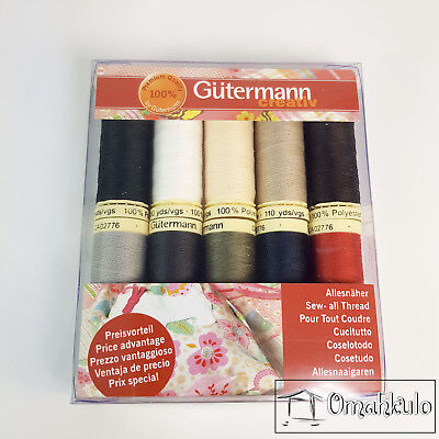 GUTERMANN - 10 Pack Sew All 100m Thread - 100% Polyester