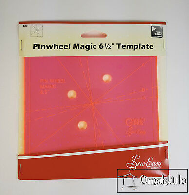 "SEW EASY - Pinwheel Magic 6-1/2"" Template - Create 3 Different Looks"