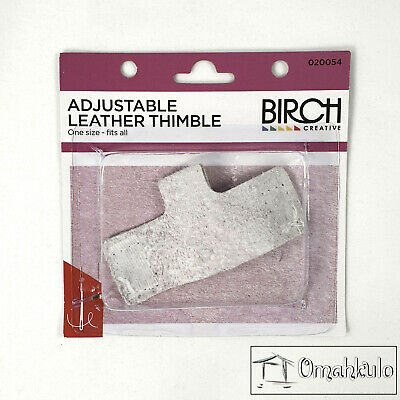 BIRCH - Adjustable Leather Thimble - One Size Fits All. -*