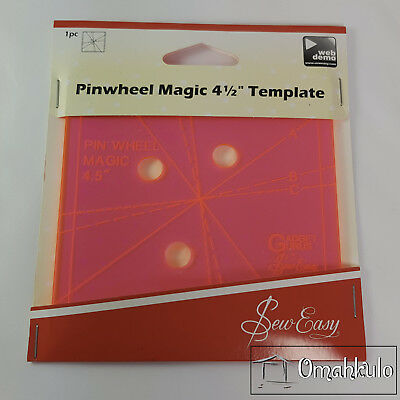 "SEW EASY - Pinwheel Magic 4-1/2"" Template - Create 3 Different Looks"