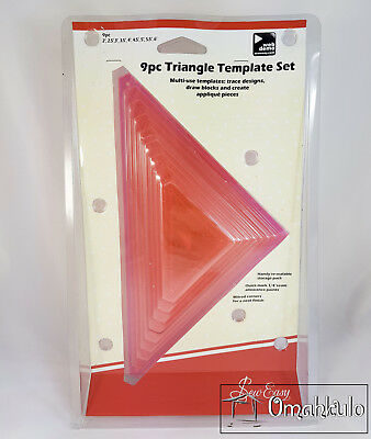 SEW EASY - 9 Piece Triangle Template Set
