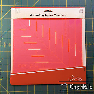"SEW EASY - Ascending Square Template - 10"" x 10"""