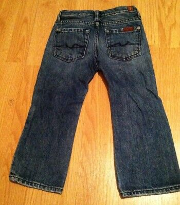 7 FOR ALL MANKIND ADJ. WAIST TODDLER JEANS Size 2T BOOTCUT