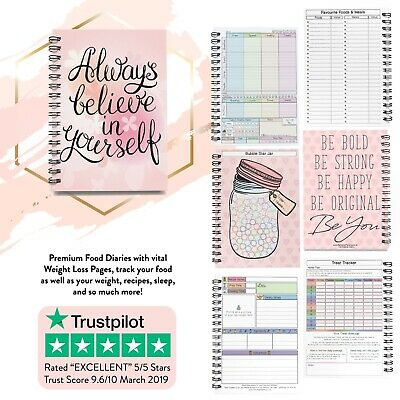 FOOD DIARY COMPATIBLE WITH SLIMMING WORLD PLAN TRACKER LOG [7-26 wk] JOURNAL *