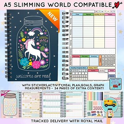 FOOD DIARY COMPATIBLE WITH SLIMMING WORLD PLAN TRACKER LOG [26wk] JOURNAL C32