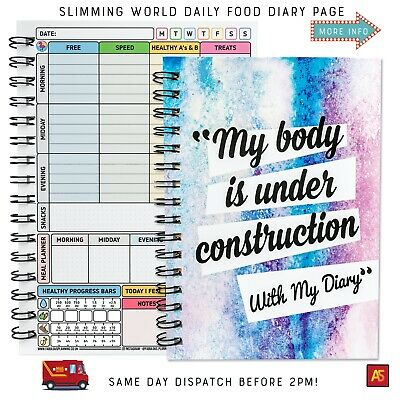 FOOD DIARY COMPATIBLE WITH SLIMMING WORLD PLAN TRACKER LOG [13wk] BOOK #15