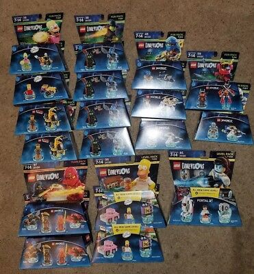 Lego Dimensions Lot Of 18 Brand New Sealed