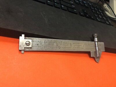 L.S. STARRETT # 22C DRILL POINT GAGE & No.303 TEMPERED STEEL DOUBLE HOOK RULE.