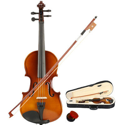1/ 8 Sizes Mendini Student Violin Package in 7 Finishes +Case+Bow+Extra Strings