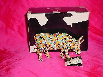 Westland Cow Parade MOOZAIC #9143 Figurine 2002 NEW TAG & BOX KANSAS CITY MOSAIC