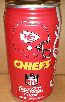 Coke - NFL Pro Football Collector Series Kansas City Chiefs - 12 oz can 1992