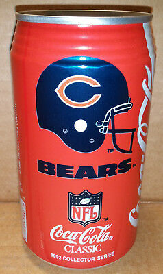 Coke - NFL Pro Football Collector Series Chicago Bears - 12 oz can 1992