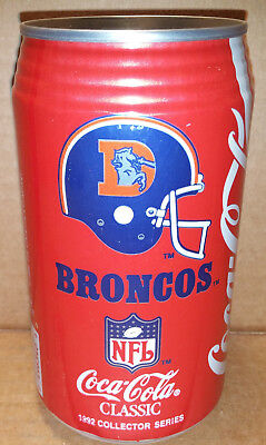 Coke - NFL Pro Football Collector Series Denver Broncos - 12 oz can 1992