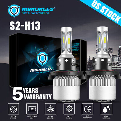H13 LED Headlight Bulbs For Ford F150 2004-2014 F-250 F-350 Super Duty 2005-2018