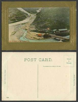 India Old Postcard Slip at Saiah on The Way to Chakrata Bridge River Scene 1260.
