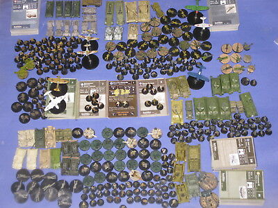 Axis and Allies miniatures lot of 340+ allies figures +21 maps + rules