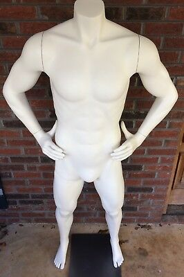 Adult Male Man Full Size Headless Mannequin With STAND, Clothes Display