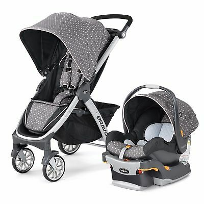 Chicco Bravo Trio 3-in-1 Baby Travel System Stroller w/ KeyFit 30 Lilla NEW