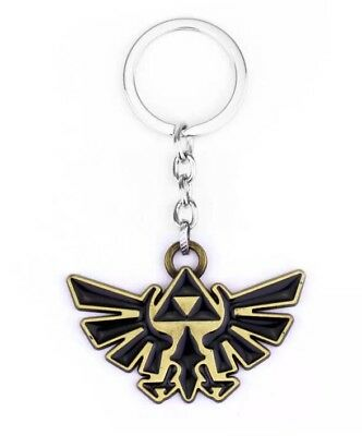 "Legend Of Zelda Triforce Eagle Keychain Charm Gold 2"" US Seller"