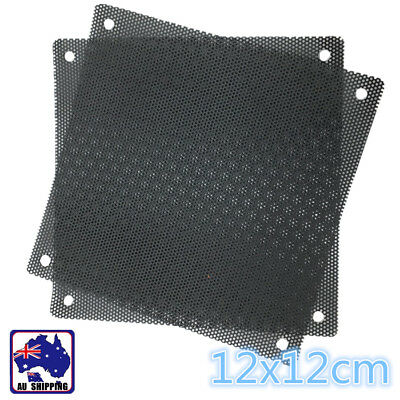 10x Black PVC PC Fan Dust Filter Dustproof Case Computer Mesh 120mm ECFI99888x10