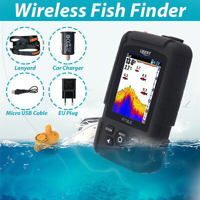 AU Lucky Pro Fish Finder Wireless Color Screen Sonar Smart  LCD Fishfinders NEW