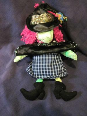 2001 Ty Beanie Baby SCARY the Witch Plush Pellets Halloween-EUC