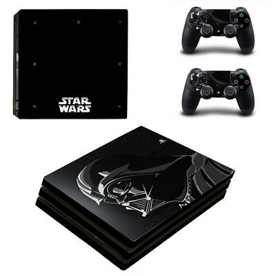 Playstation 4 PS4 Pro Console Skin Sticker New Star Wars + 2 Controllers