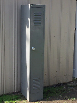 RETRO  INDUSTRIAL ANTIQUE  STEEL LOCKER TOOL CABINET Pick up Knoxfield. 3180