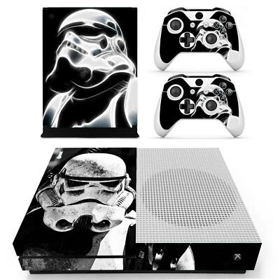 XBox One S Console Skin Sticker Protector New Star Wars + 2 Controllers
