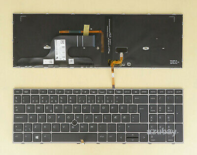 For HP Probook 450 G5 455 G5 470 G5 Laptop Keyboard Nordic Swedish Scandinavian
