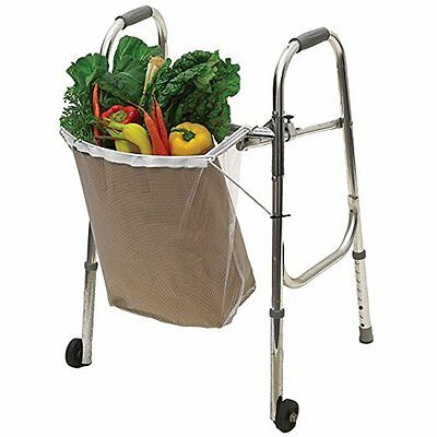 Walker Mesh Bag Laundy Hamper Holder Grocery Shopping Cart Basket Folding Bag