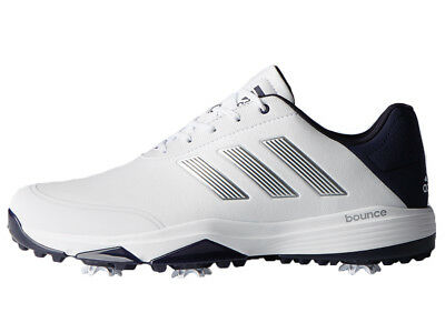 Adidas Adipower Bounce Golf Shoes - White/Sil Met./Noble Ink