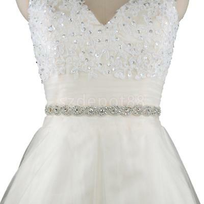 Glitter Crystal Rhinestone Wedding Drss Belt Bridal Fancy Dress Applique Sash