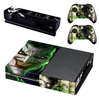 XBox One Console Skin Sticker Protector New The Joker +2 Controllers