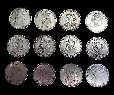 Set of 12 PRESIDENTIAL COMMEMORATIVE COINS
