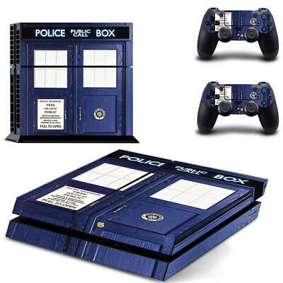 Sony PS4 Playstation 4 Console Skin Sticker New Dr Who + 2 Controllers