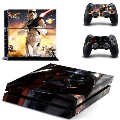 Sony PS4 Playstation 4 Console Skin Sticker New Star Wars T2 + 2 Controllers