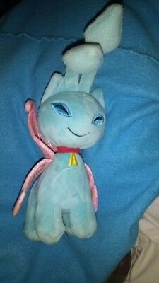 "Neopets 6"" FAERIE AISHA Sky Blue Plush Pink Shiny Wings Fairy Toy No Code. Rare!"