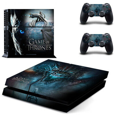 Sony PS4 Playstation 4 Console Skin Sticker New Game of Thrones + 2 Controllers