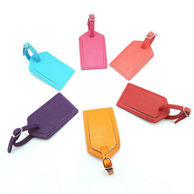 New Luggage Suitcase Tags Travel Accessory Name ID Address PU Leather Bag Tags