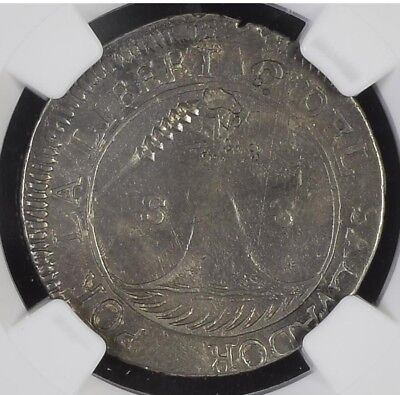 Rare 1832 El Salvador 2 Reales with ZigZag Cut Mark NGC VF25 silver