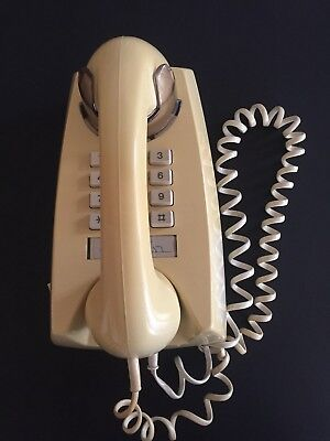 Vintage Telecom Wall Mount Push Button Telephone / Phone Good Working Order
