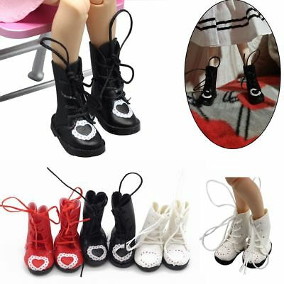 Gift Accessories 1/6 BJD Blythe PU  Leather Dolls Boots 3.3cm Mini Shoes