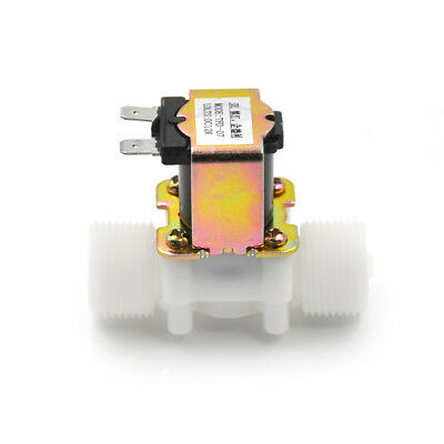 """3/4"""" DC 12V Plastic Electric Solenoid Valve Magnetic Water Air Normally Closed R"""