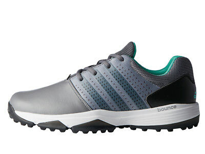 Adidas 360 Traxion Golf Shoes - Grey Four/Black/Hi-Res Green