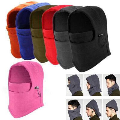 Unisex Full Face Cover Snood Warm Ski Mask Cap Fleece Beanie CS Hat Balaclava AU