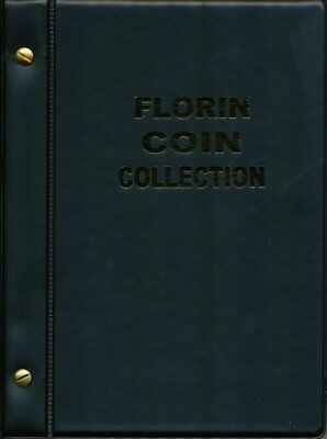 VST Australian Florin Coin Album 1910 to 1963 - Black Cover **FREE POSTAGE**