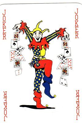 "RARE MINT ""Multi-coloured CHECK YOUR COPY"" JOKER Playing Card #710"